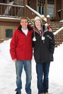 2 students at the AATG Colorado German Immersion weekend in 2014